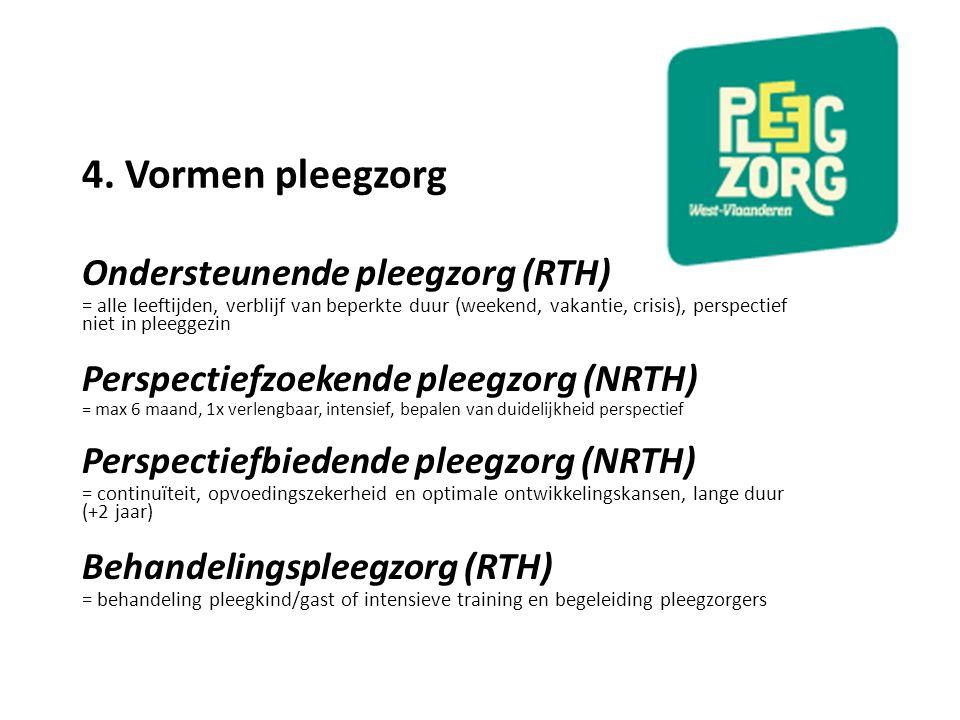 4. Vormen pleegzorg Ondersteunende pleegzorg (RTH)