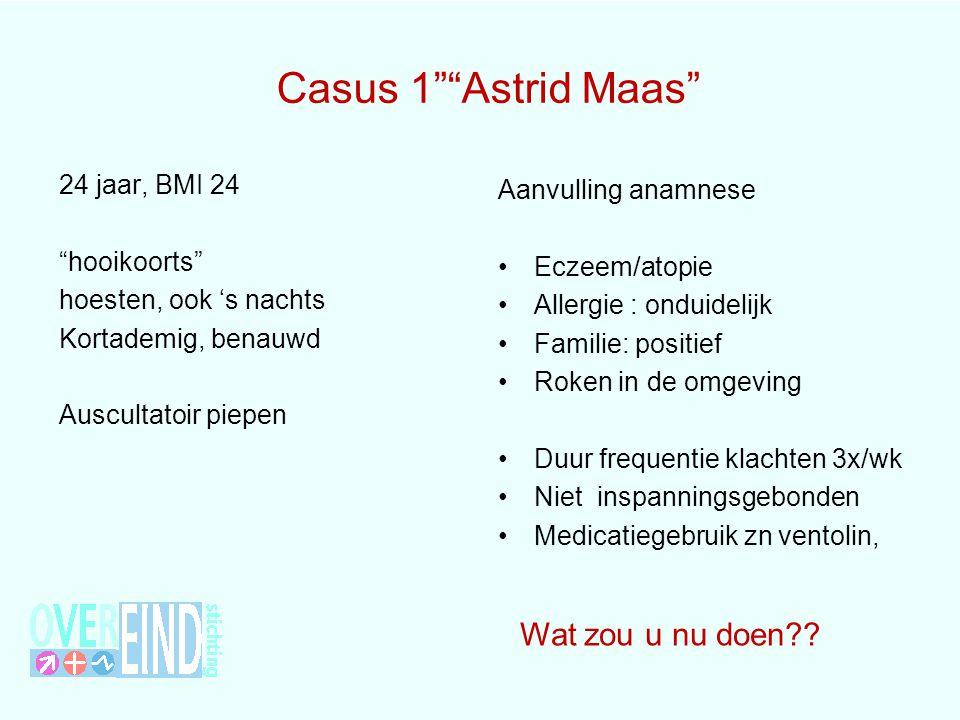 Casus 1 Astrid Maas Wat zou u nu doen