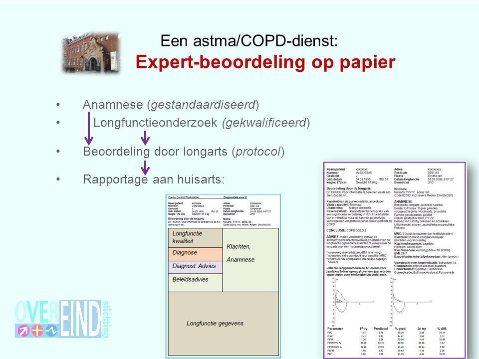 Een astma/COPD-dienst: Expert-beoordeling op papier