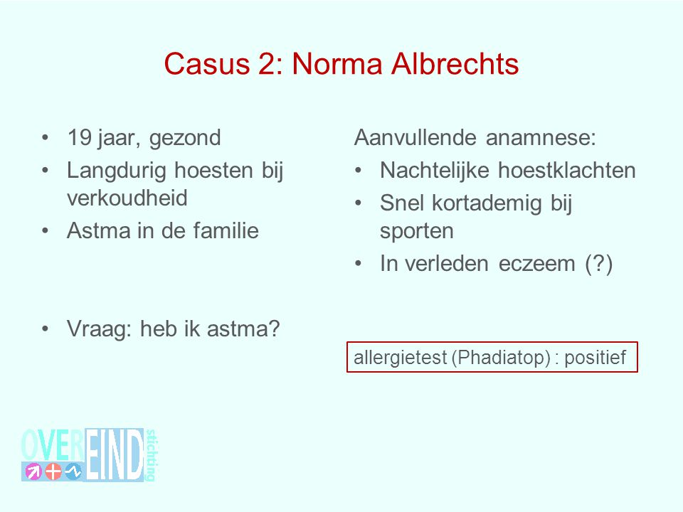 Casus 2: Norma Albrechts