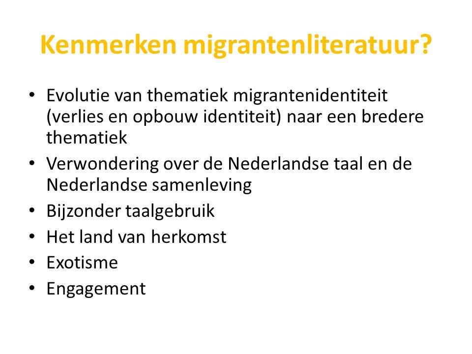 Kenmerken migrantenliteratuur