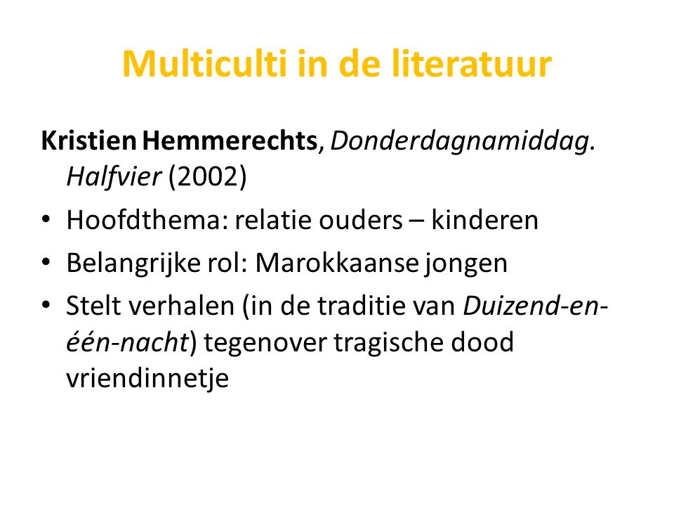 Multiculti in de literatuur