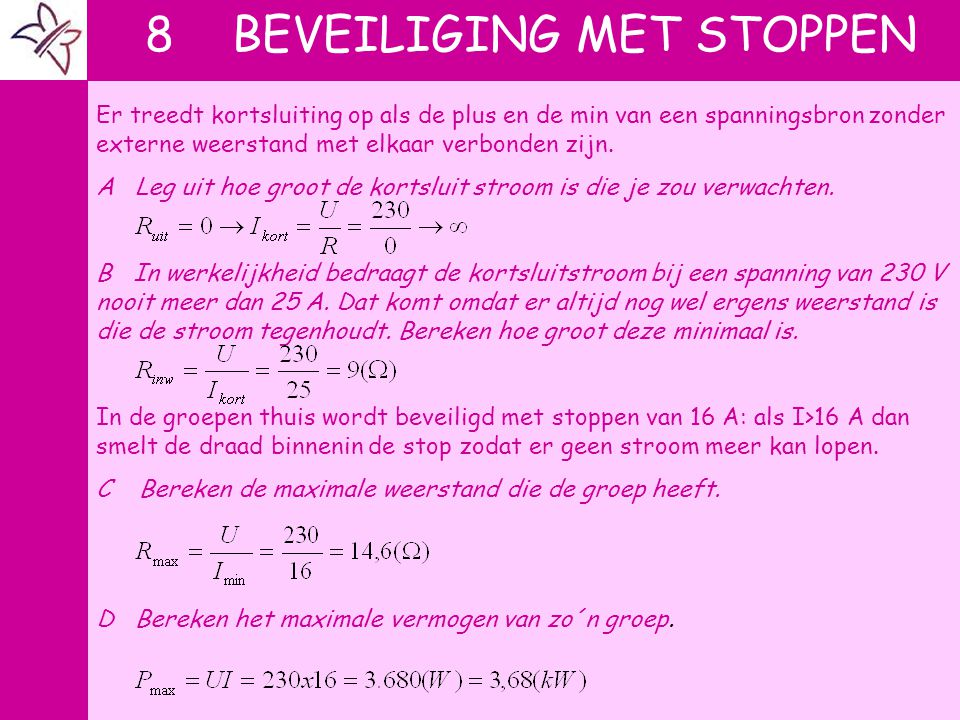 8 BEVEILIGING MET STOPPEN