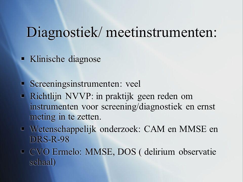 Diagnostiek/ meetinstrumenten: