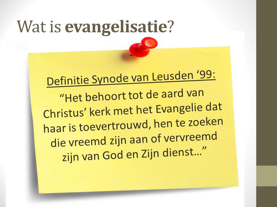 Wat is evangelisatie