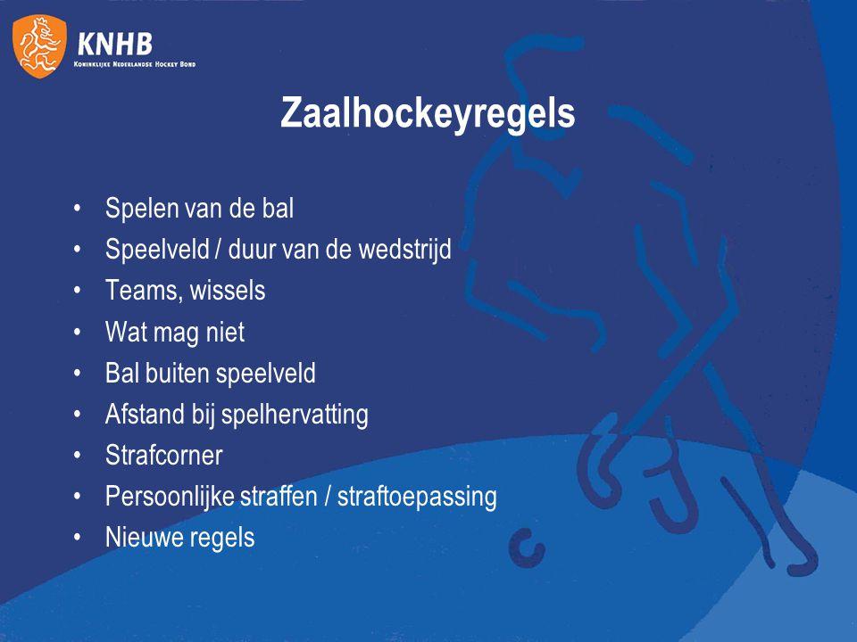 Zaalhockeyregels Spelen van de bal Speelveld / duur van de wedstrijd