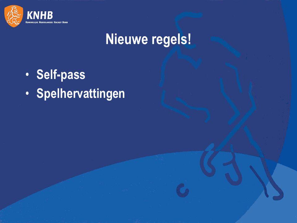 Nieuwe regels! Self-pass Spelhervattingen