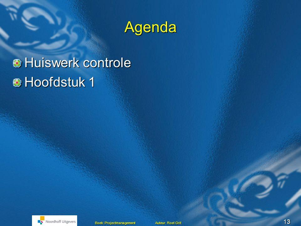 Agenda Huiswerk controle Hoofdstuk 1