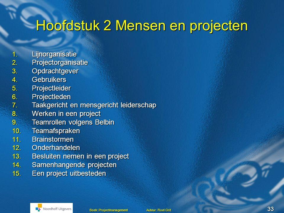 Hoofdstuk 2 Mensen en projecten