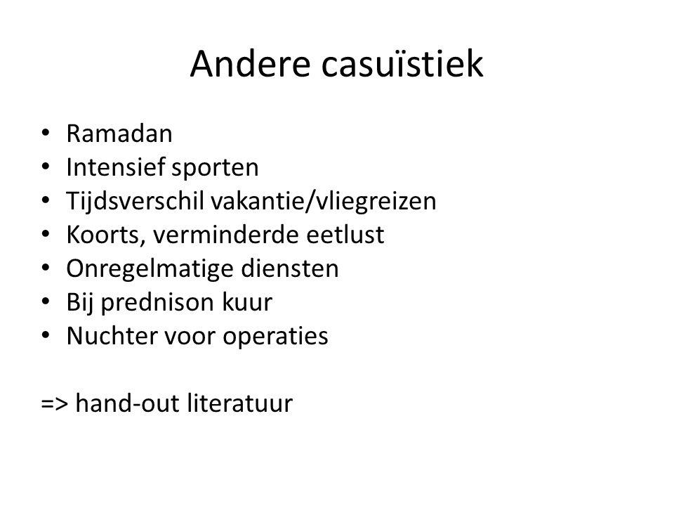 Andere casuïstiek Ramadan Intensief sporten