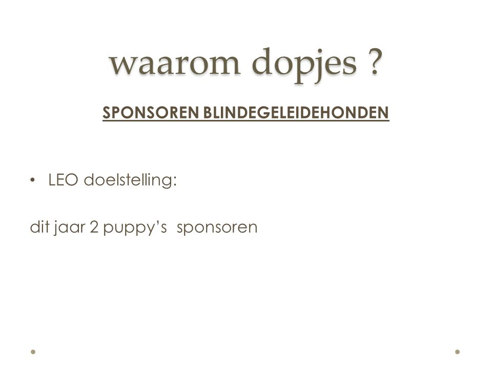 SPONSOREN BLINDEGELEIDEHONDEN