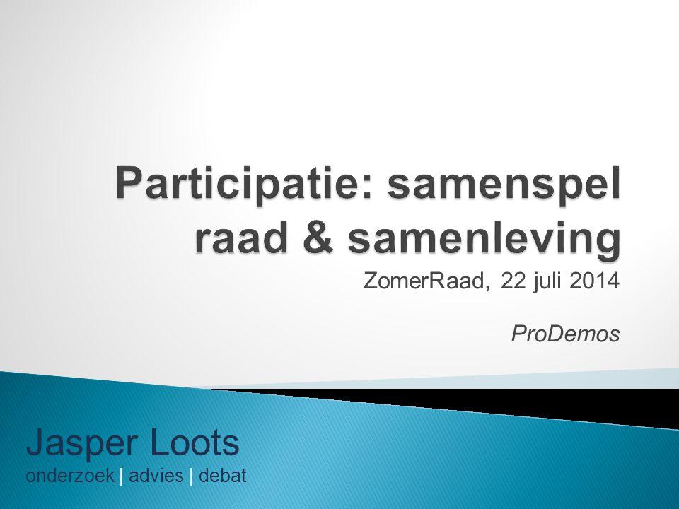 Participatie: samenspel raad & samenleving