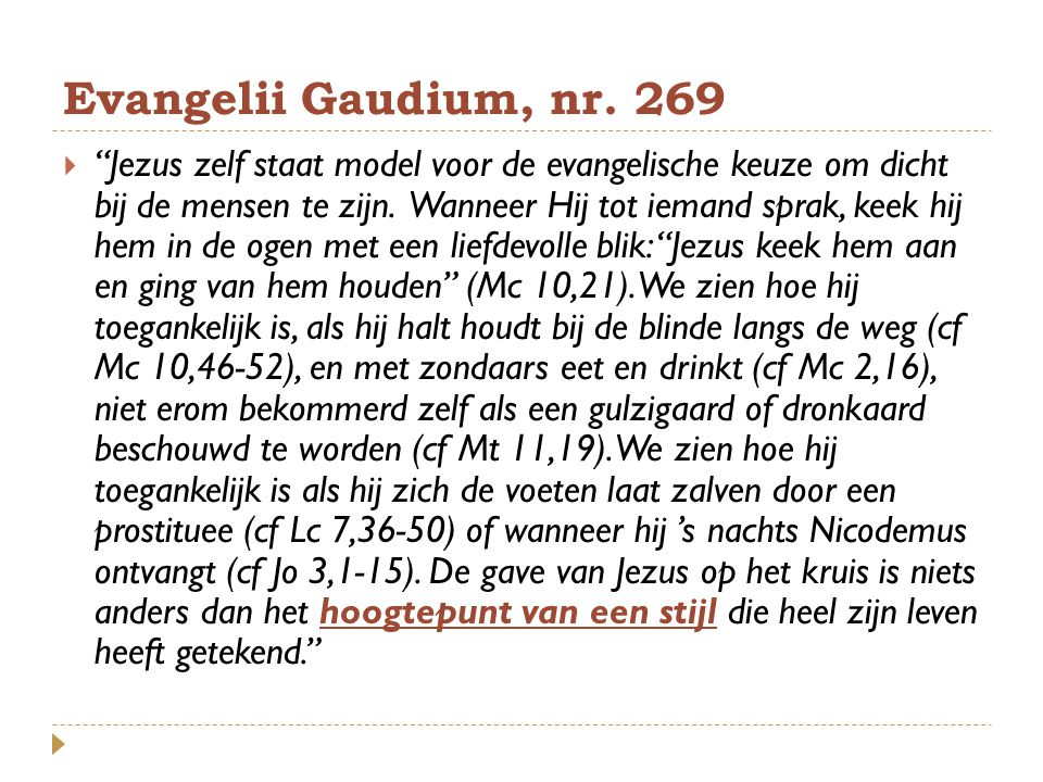 Evangelii Gaudium, nr. 269