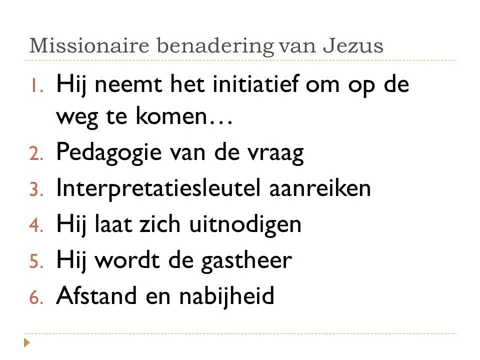 Missionaire benadering van Jezus