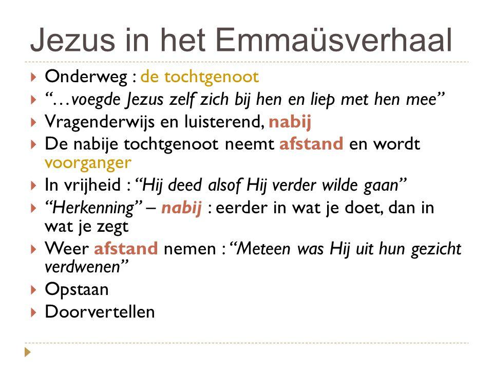 Jezus in het Emmaüsverhaal