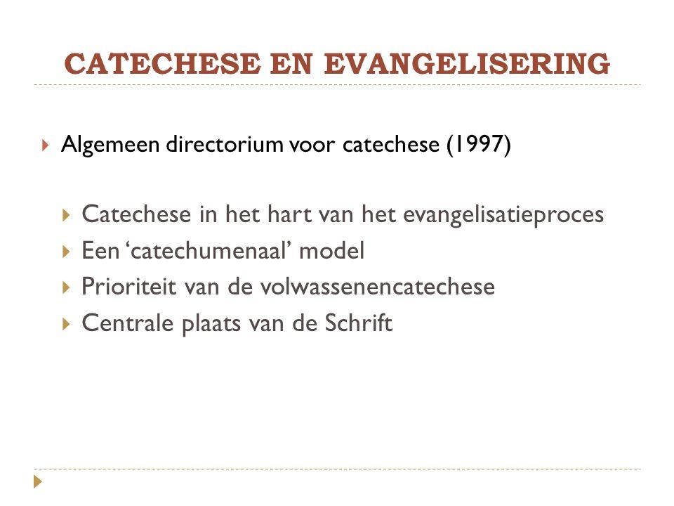 CATECHESE EN EVANGELISERING