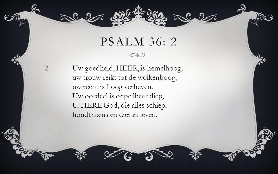 Psalm 36: 2
