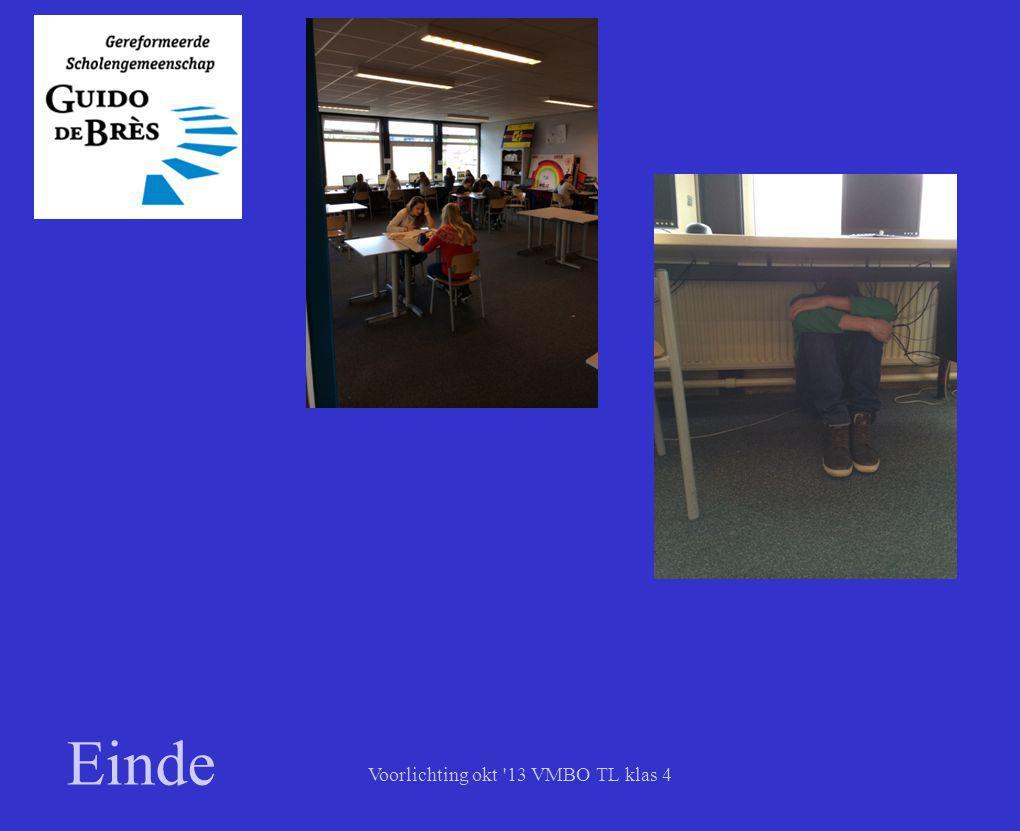 Voorlichting okt 13 VMBO TL klas 4