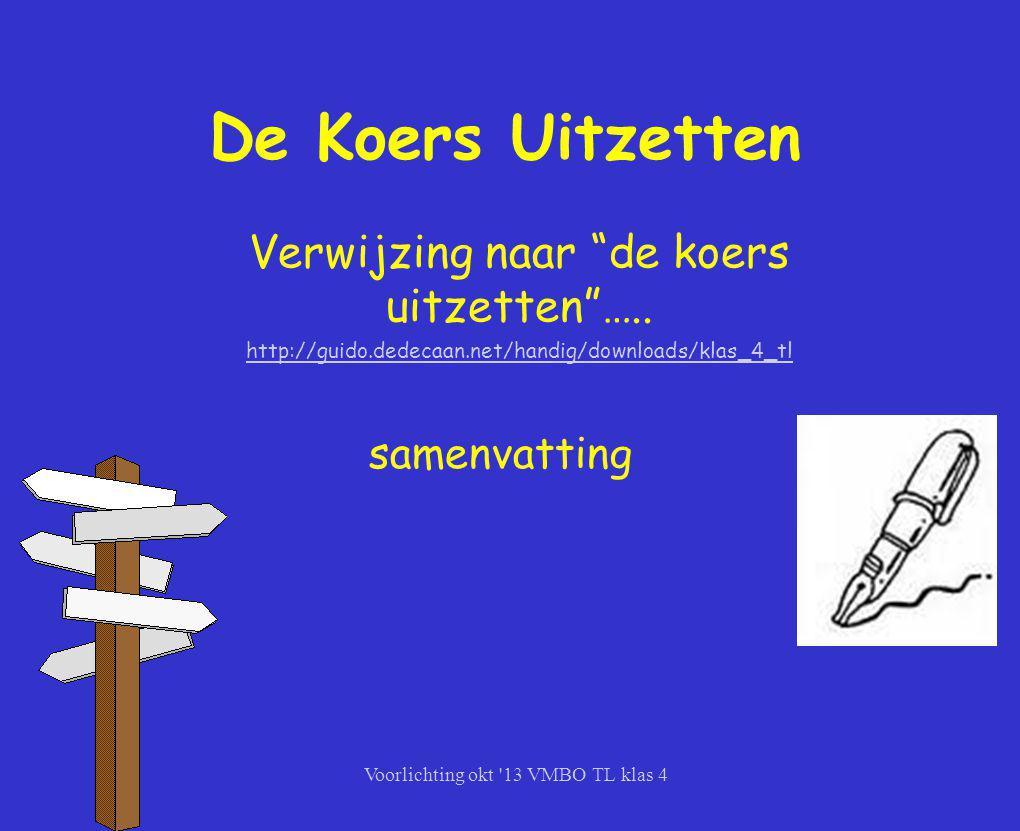 De Koers Uitzetten Verwijzing naar de koers uitzetten …..