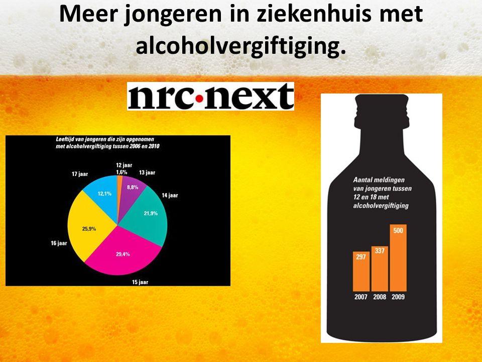 Meer jongeren in ziekenhuis met alcoholvergiftiging.