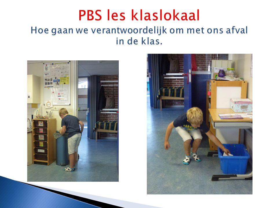 PBS les klaslokaal Hoe gaan we verantwoordelijk om met ons afval in de klas.