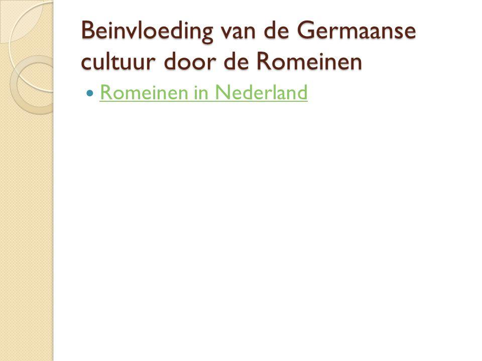 Beinvloeding van de Germaanse cultuur door de Romeinen