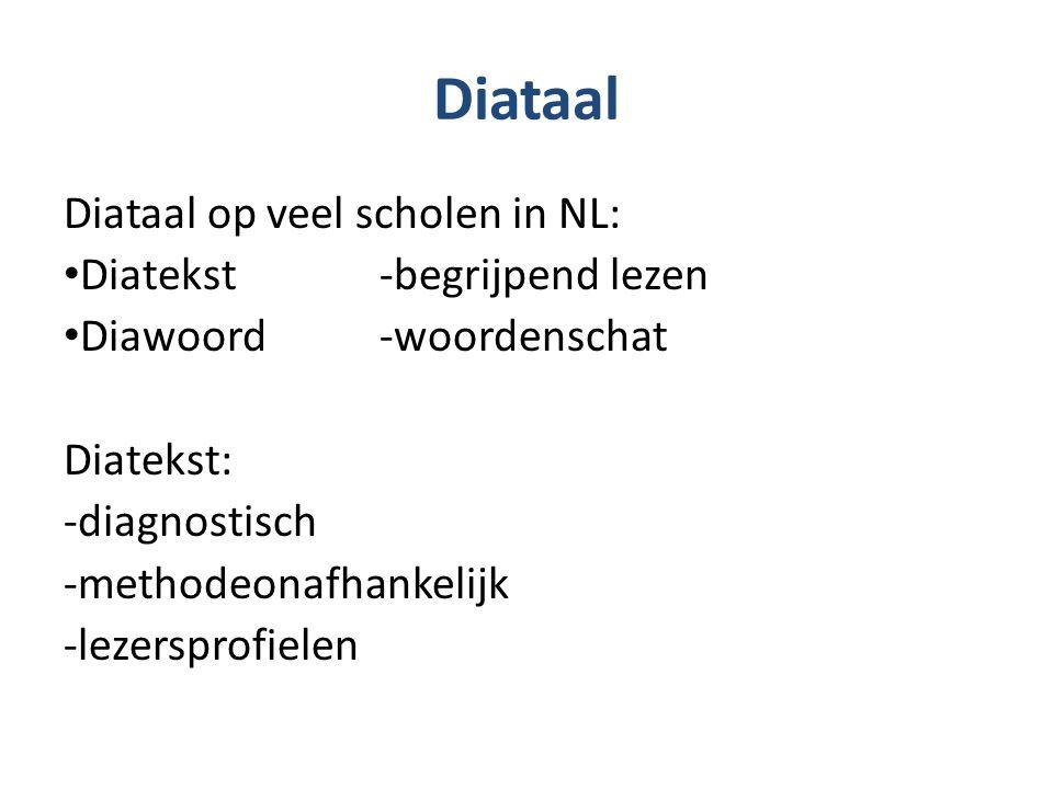 Diataal Diataal op veel scholen in NL: Diatekst -begrijpend lezen