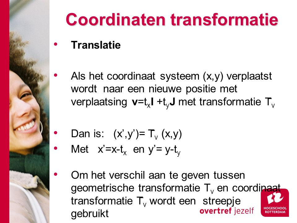Coordinaten transformatie