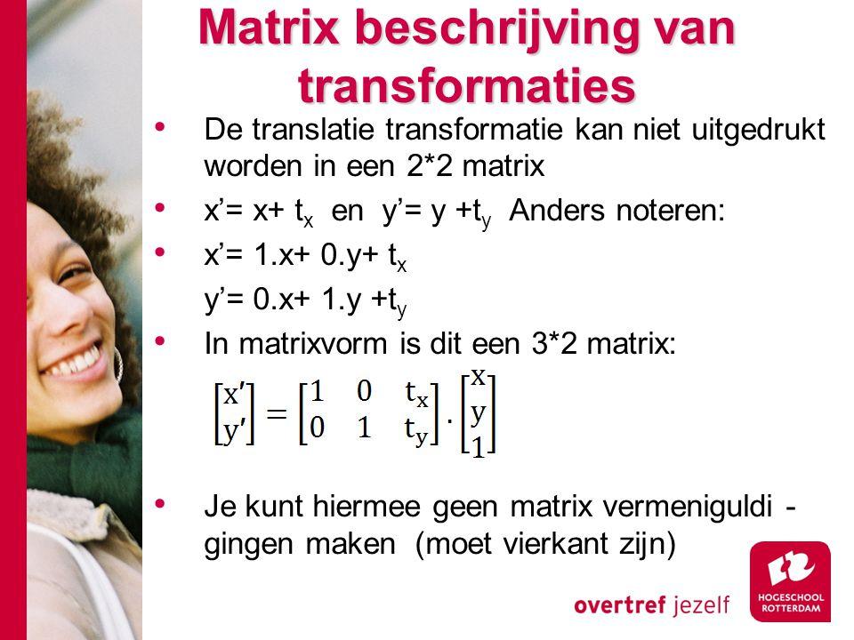 Matrix beschrijving van transformaties