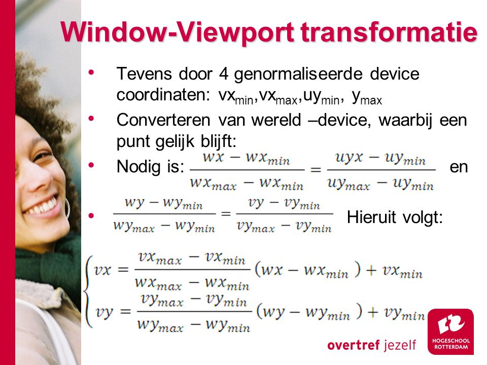 Window-Viewport transformatie