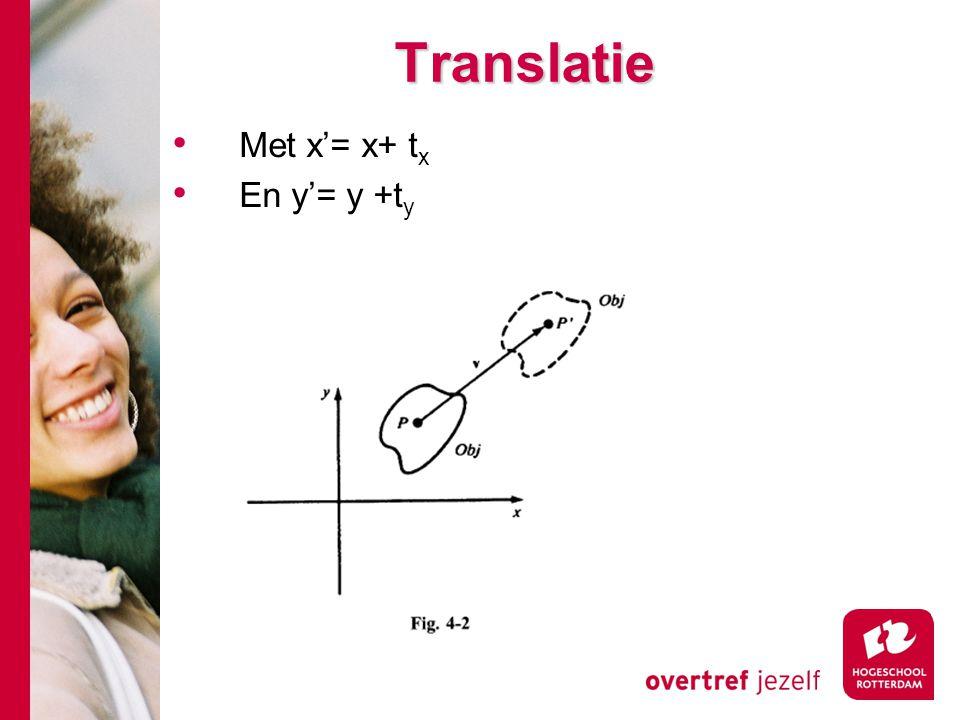 Translatie Met x'= x+ tx En y'= y +ty