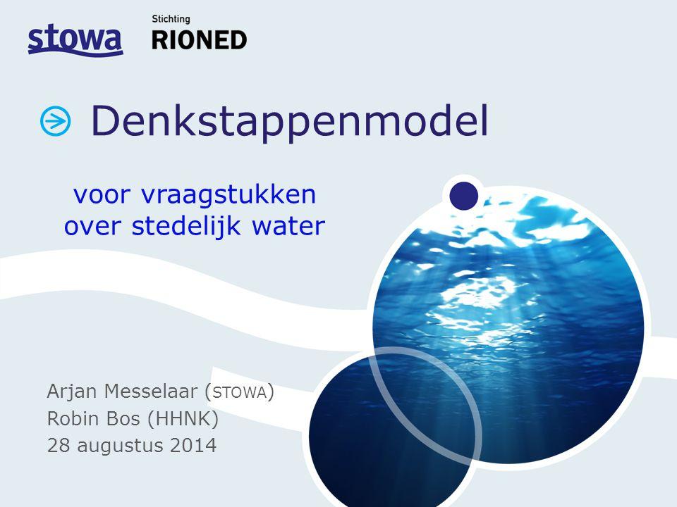voor vraagstukken over stedelijk water