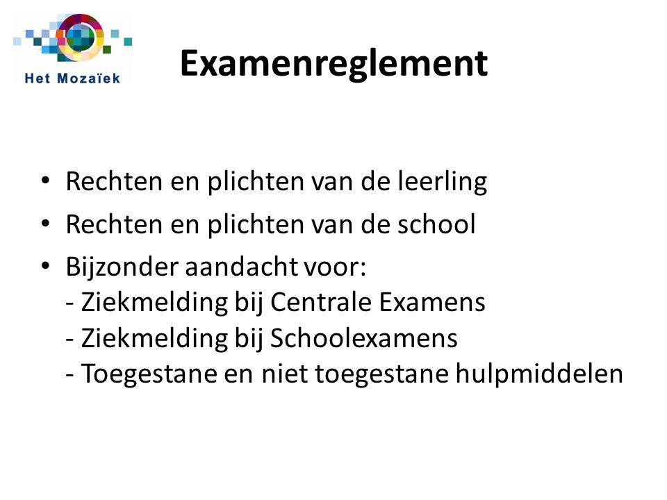 Examenreglement Rechten en plichten van de leerling