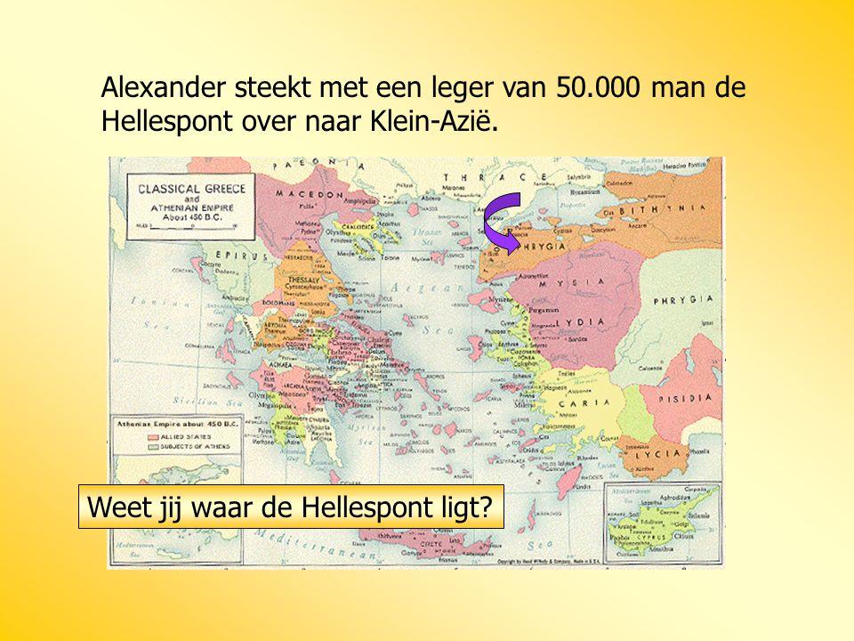 Alexander steekt met een leger van 50
