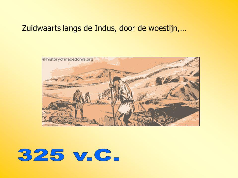Zuidwaarts langs de Indus, door de woestijn,…