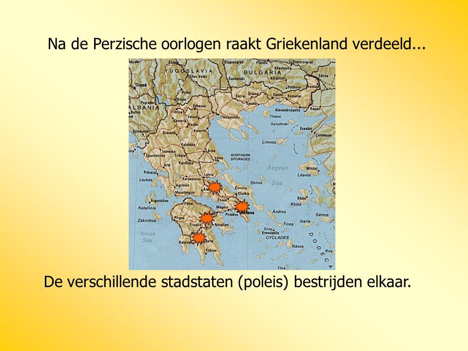 Na de Perzische oorlogen raakt Griekenland verdeeld...
