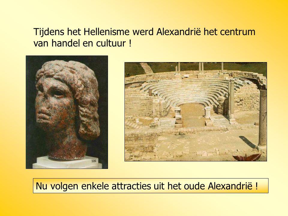 Tijdens het Hellenisme werd Alexandrië het centrum van handel en cultuur !