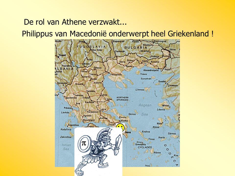 De rol van Athene verzwakt...