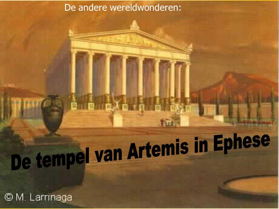 De tempel van Artemis in Ephese