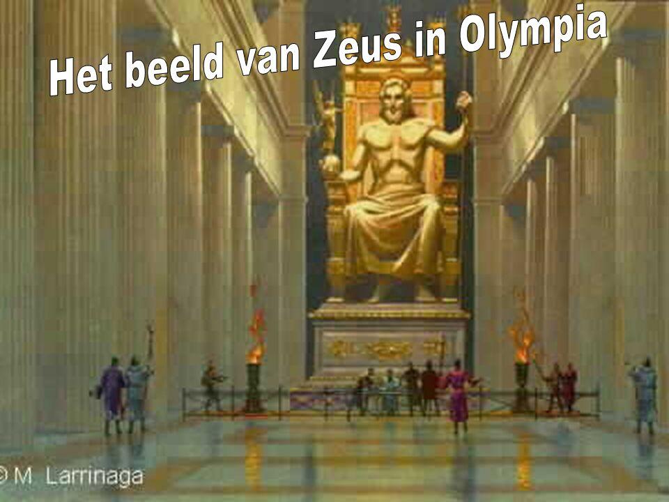 Het beeld van Zeus in Olympia