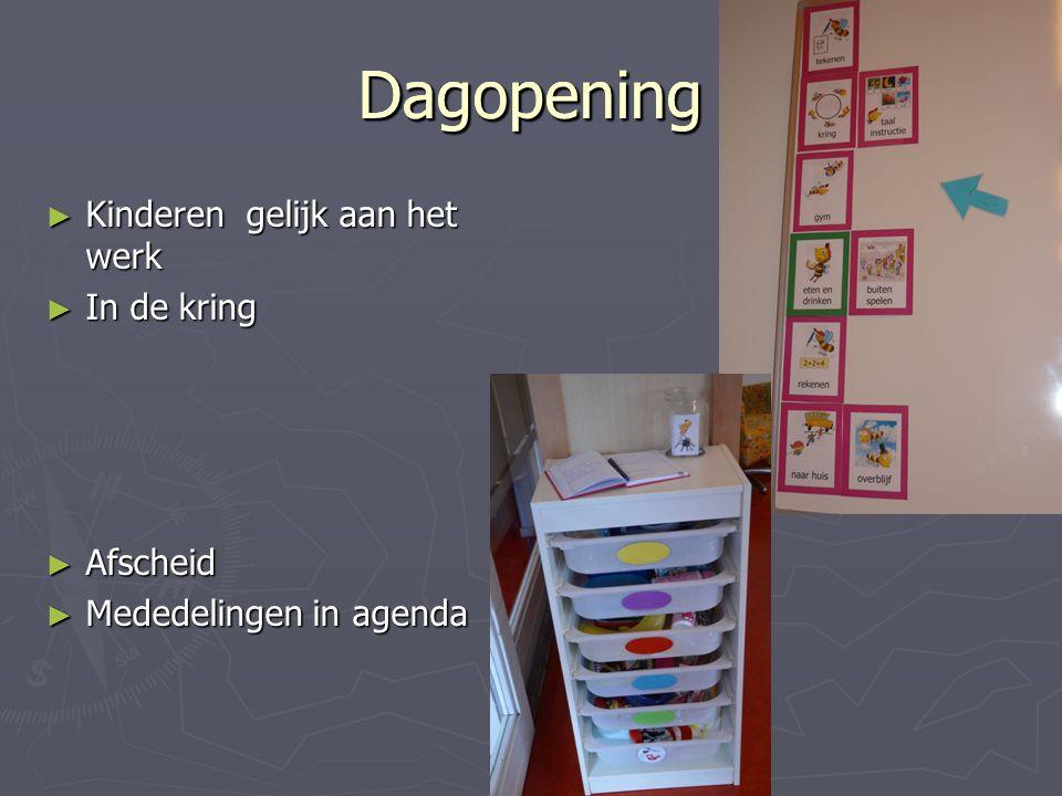Dagopening Dagopening Kinderen gelijk aan het werk In de kring