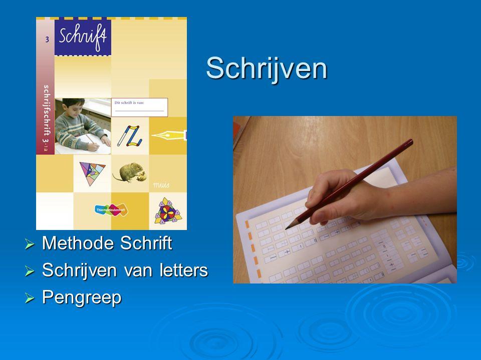 Schrijven Methode Schrift Schrijven van letters Pengreep
