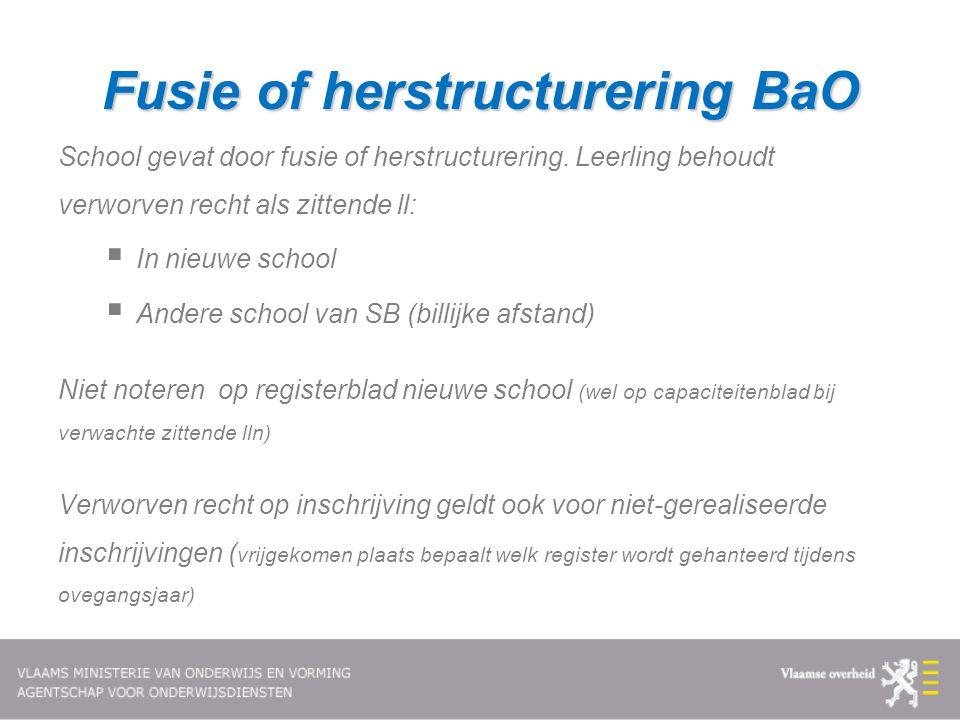Fusie of herstructurering BaO