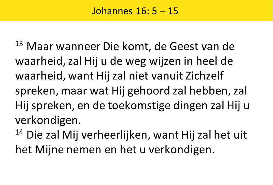 Johannes 16: 5 – 15