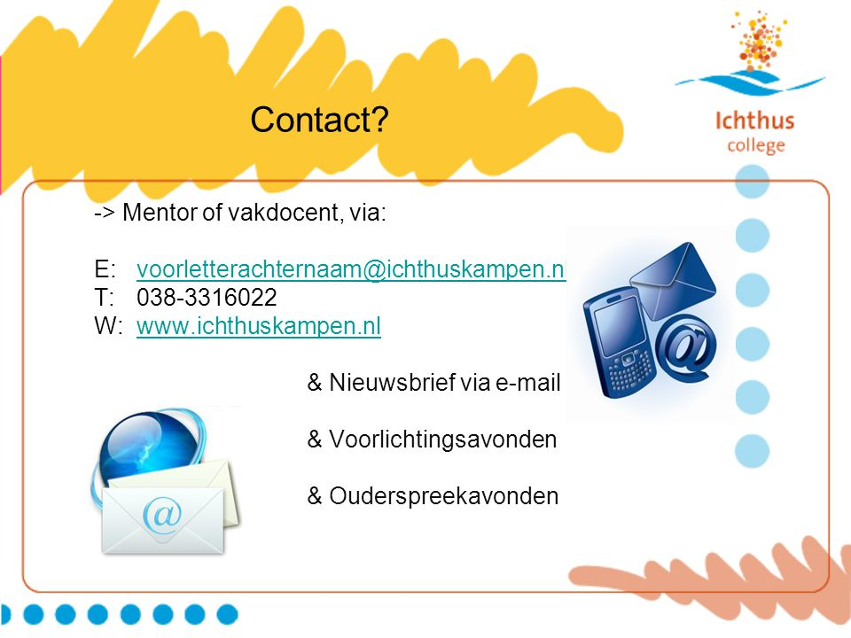 Contact -> Mentor of vakdocent, via: