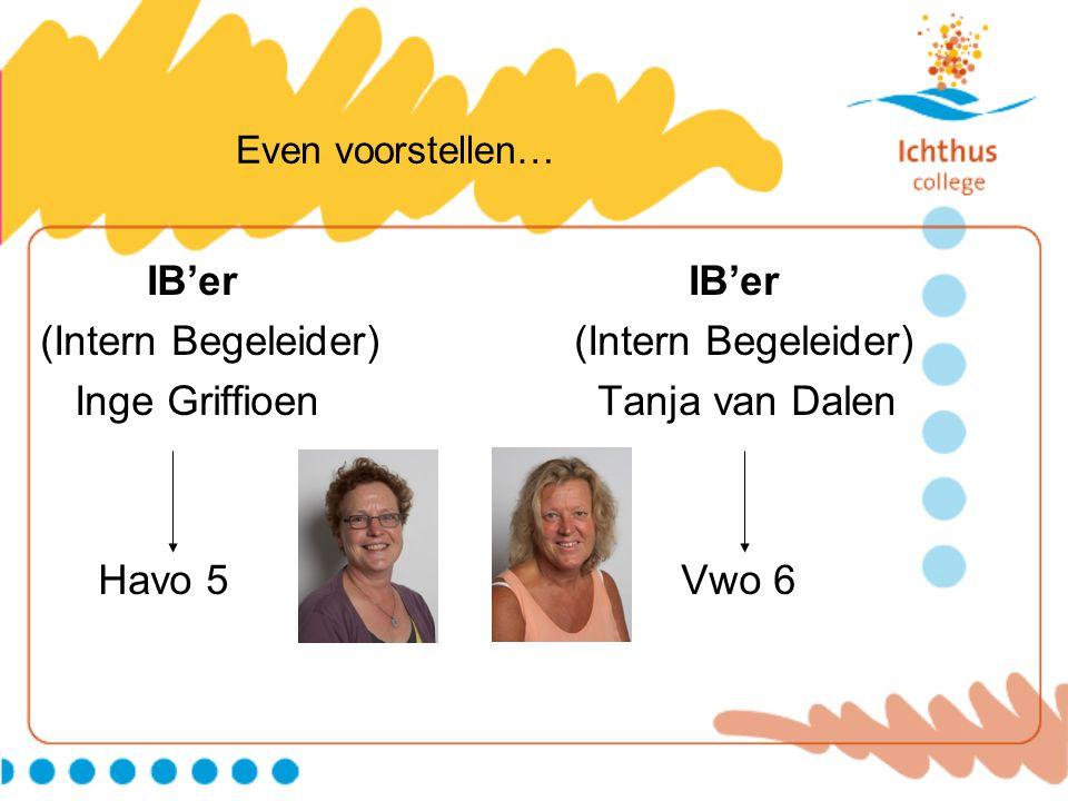 (Intern Begeleider) (Intern Begeleider) Inge Griffioen Tanja van Dalen