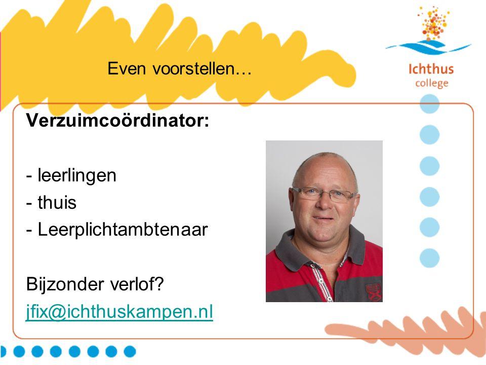 - Leerplichtambtenaar Bijzonder verlof jfix@ichthuskampen.nl
