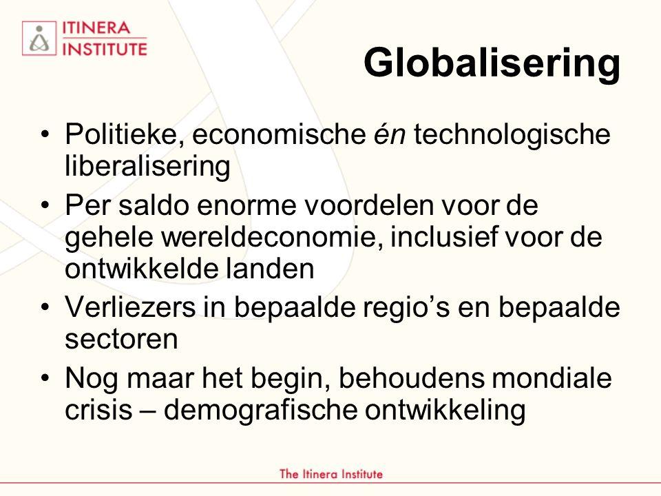 Globalisering Politieke, economische én technologische liberalisering