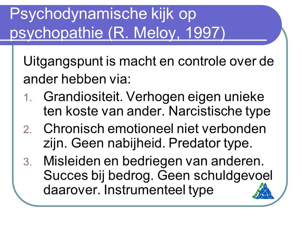 Psychodynamische kijk op psychopathie (R. Meloy, 1997)