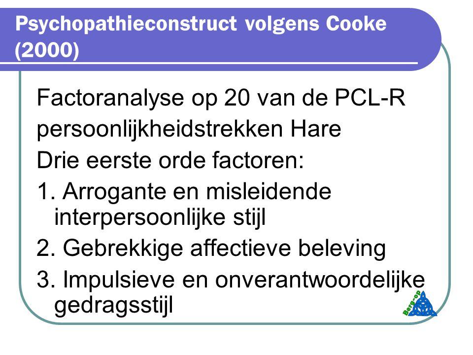 Psychopathieconstruct volgens Cooke (2000)